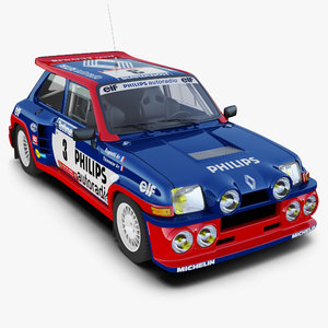 renault 5 turbo rally car 3d 3ds