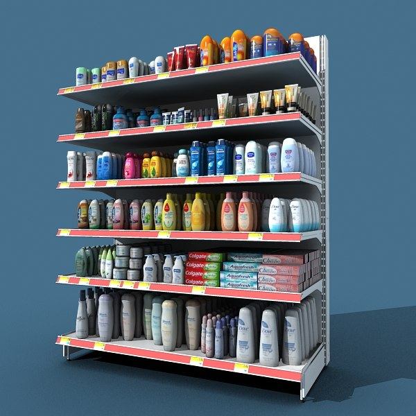 personal hygiene shelf 3d c4d