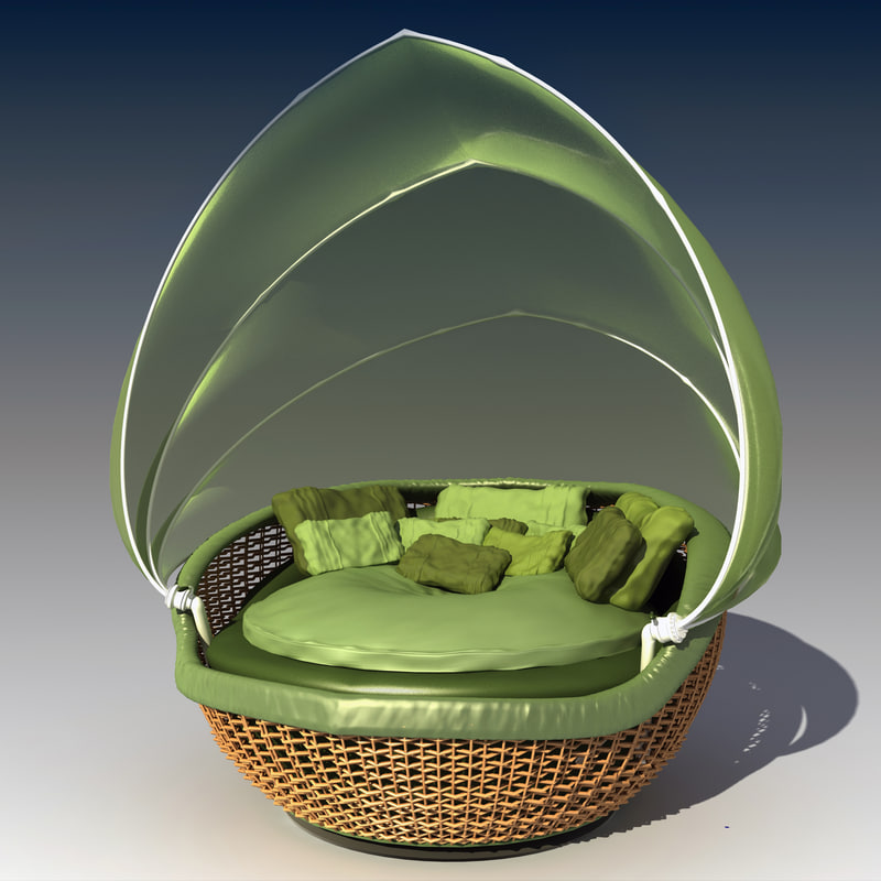 max wicker daybed silk tent