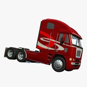 3d model freightliner argosy truck high-roof