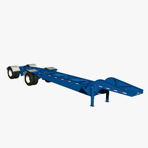 3d model container chassis