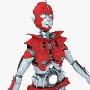 3d model robot female