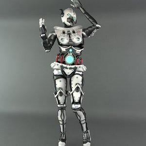 3ds robot female