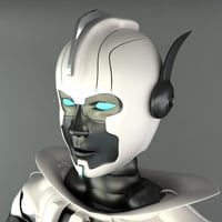 robot female 3d max