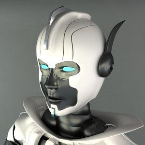 robot female 3d max