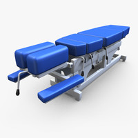 3d model chiropractic table