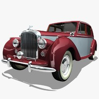 3d realistic bentley mark vi model