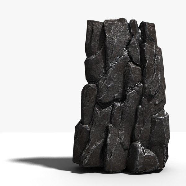rocky cliffs rock 3d wrl