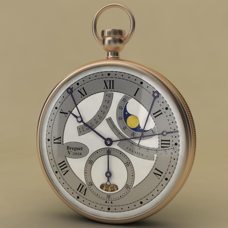 breguet stopwatch vol 6 3d model