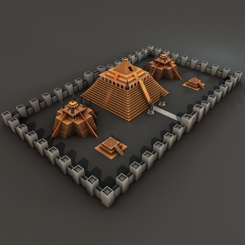 temple city 3d model