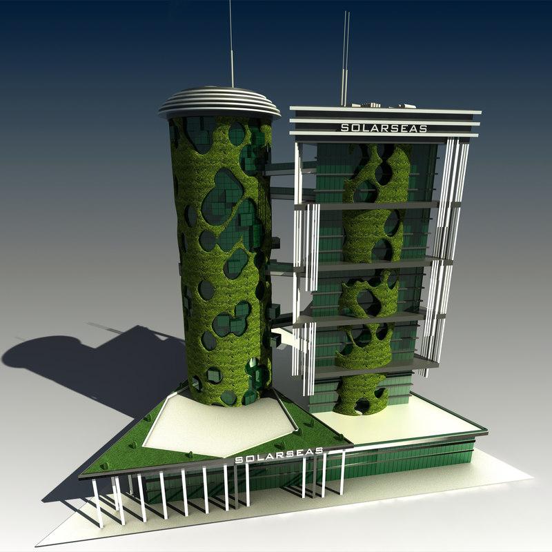 modern skyscraper building concept 3d model