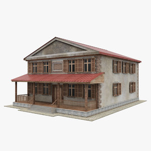 3d two-storey house