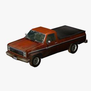3d american pickup truck model