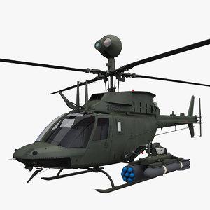 oh-58d kiowa warrior helicopter max