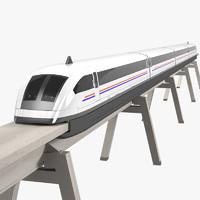 Maglev Train Shanghai Express Magnetic Levitation Flying Speed Bullet