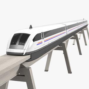 3ds max maglev train shanghai