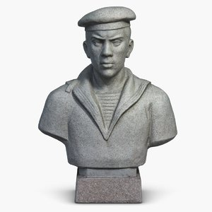 3d model sculpture young sailor bust
