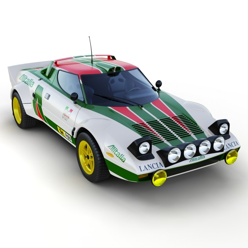 3d model lancia stratos rally car
