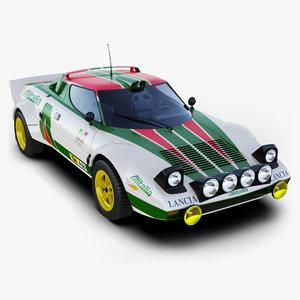 3d model lancia stratos rally car