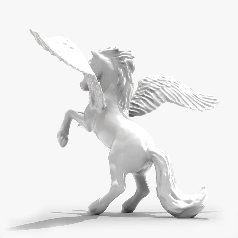 3dsmax pegasus horse