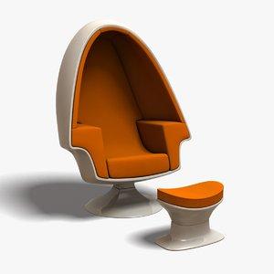 3d egg chair
