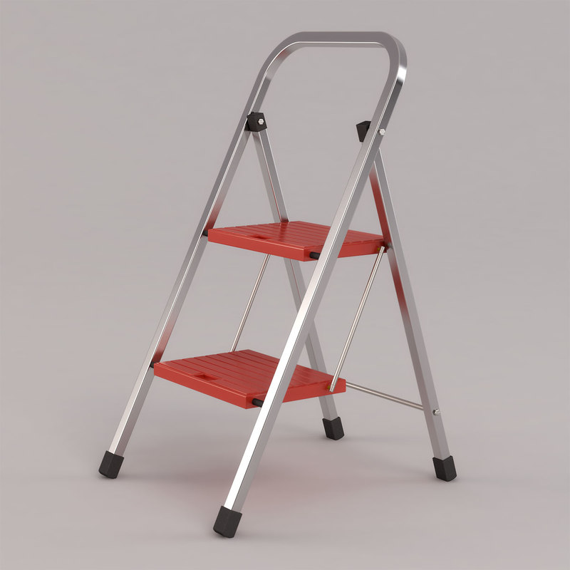 home ladder step stool 3d max