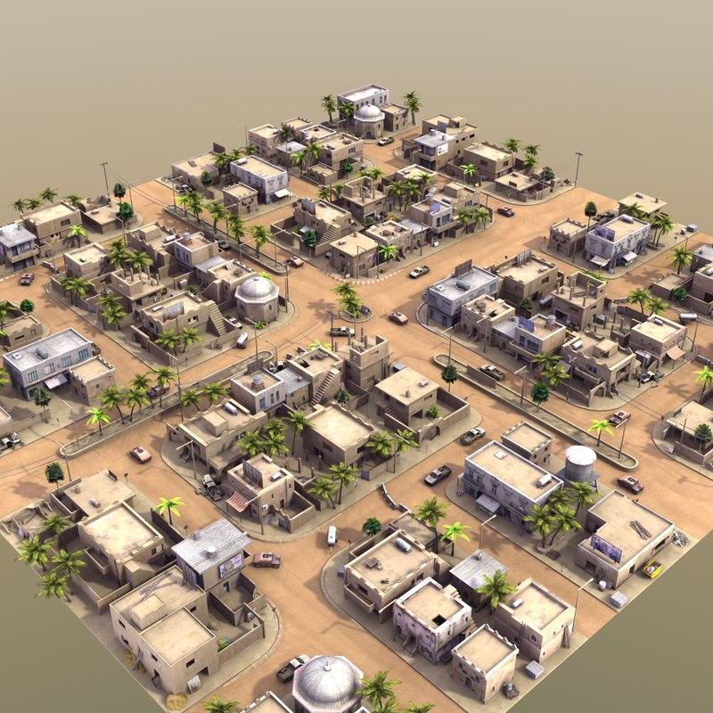 3ds arab city street