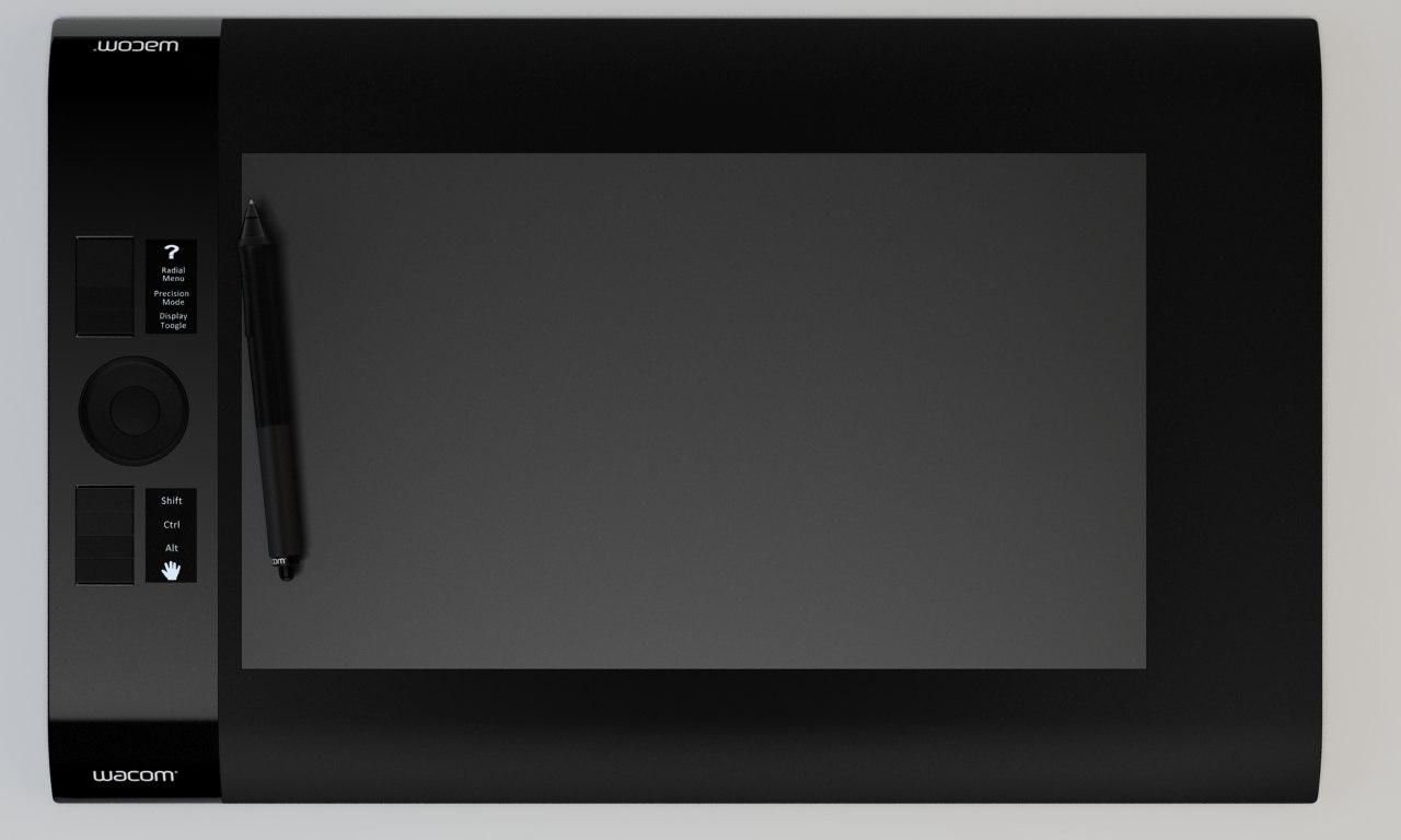 wacom intuos l tablet 3d model