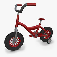 3d obj kids bicycle