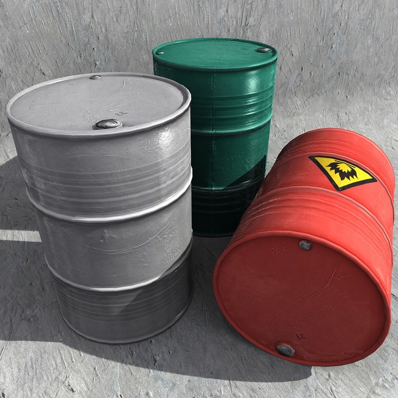 3d texturematic metal barrel - model