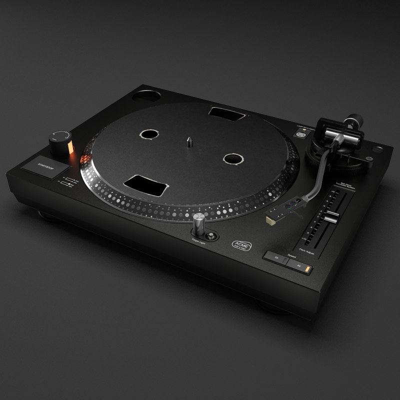 3d vinyl table model