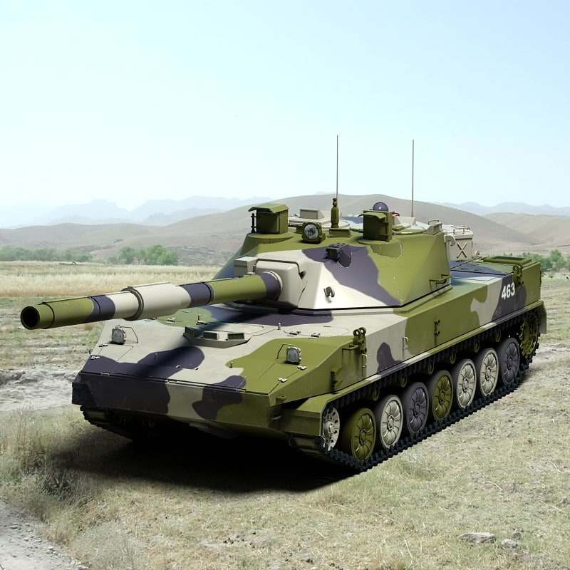 2s25 tank destroyer 3d max