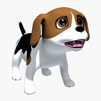 3d model cartoon doggy beagle puppy
