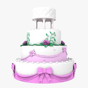 wedding cake 3d dxf