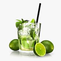 3d model caipirinha cocktail glass