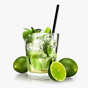 3d model caipirinha cocktail glass