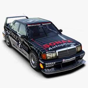 3d mercedes-benz 190e dtm race car