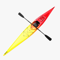 kayak canoe 3d model