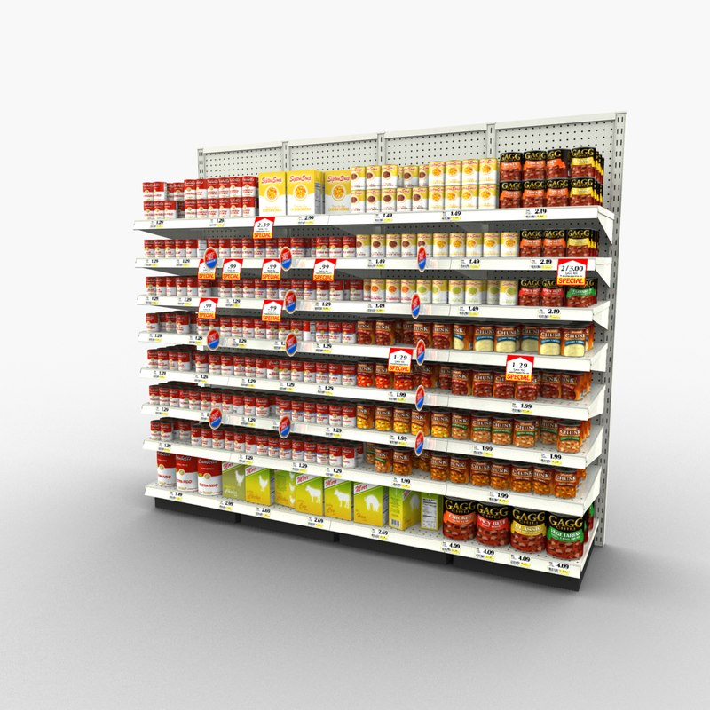 grocery - 3d max