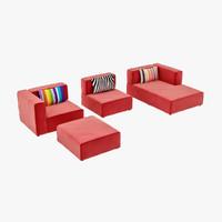 3d model boconcept sofa