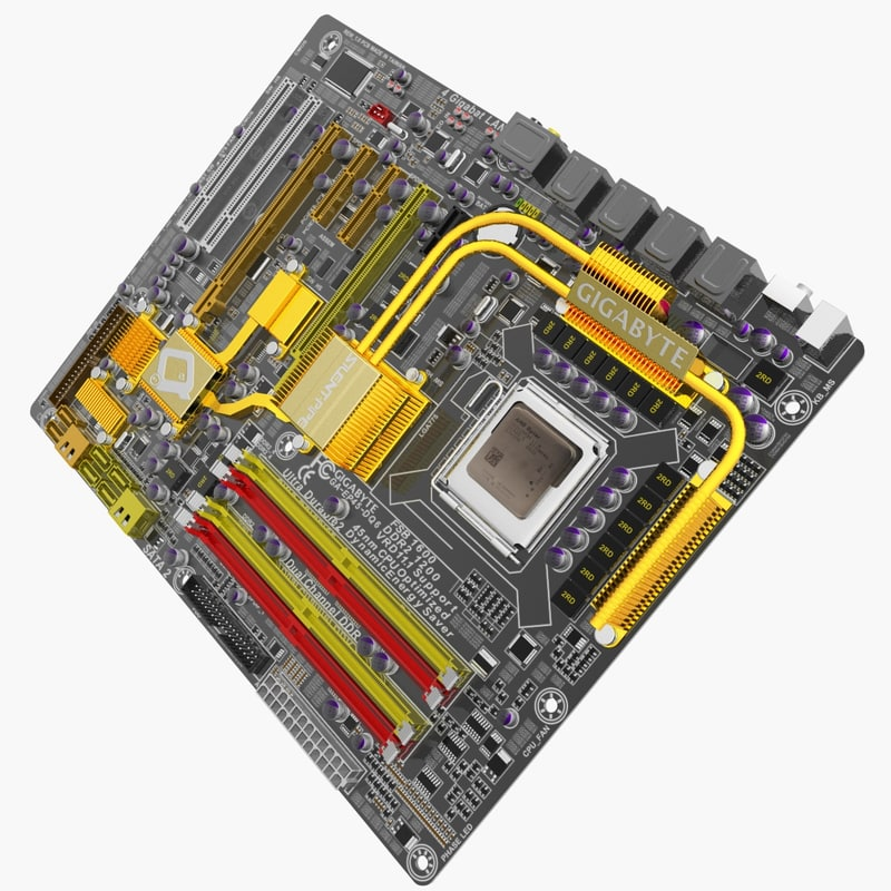 3d model of motherboard ga-ep45-dq6