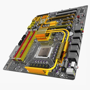 3d model motherboard ga-ep45-dq6