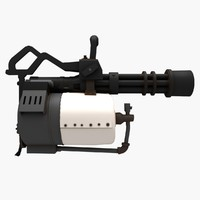 minigun team fortress 2 3d model
