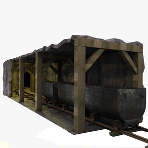 3ds max old tunnel rail