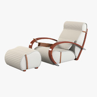 3d tresserra casablanca armchair foot-rest
