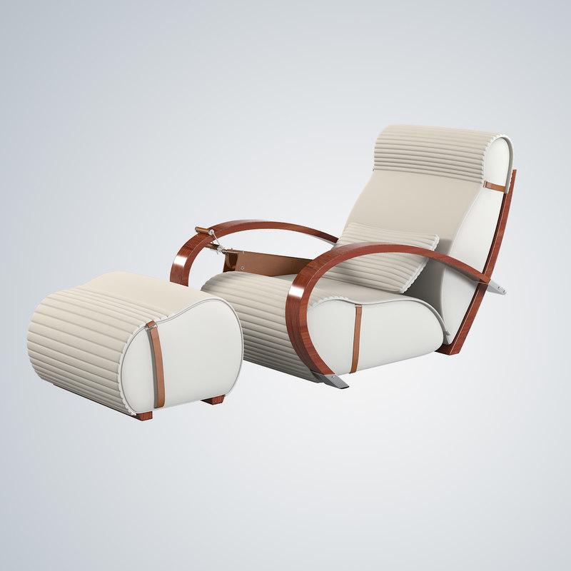 3d tresserra casablanca armchair foot-rest