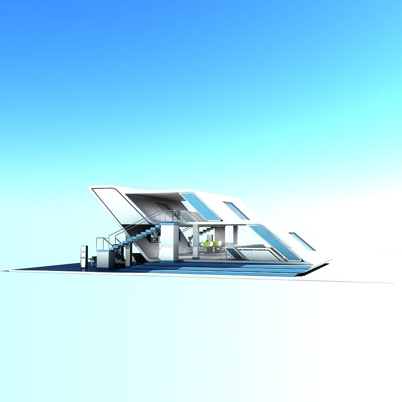 3d exhibition stand model