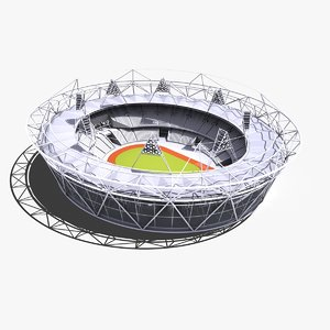 london olympic stadium 3d model