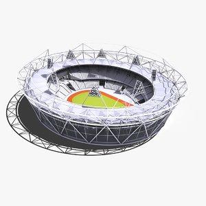 london olympic stadium 3d model
