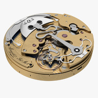 3d watch mechanism breguet model